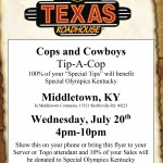 Tip-A-Cop Texas Roadhouse Flyer